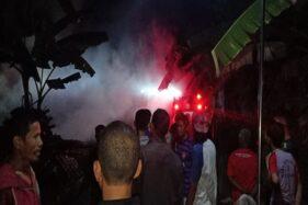 Kandang Sapi di Pundungsari Sukoharjo Ludes Terbakar