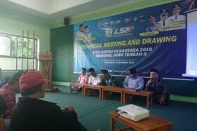 Panitia Liga Santri Nusantara (LSN) 2019 Regional Jawa Tengah II menggelar jumpa pers di Kantor Pengurus Cabang Nahdlatul Ulama Solo, Selasa (15/10/2019). (Solopos.com-Chrisna Chanis Cara)