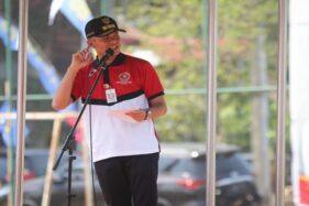 Gubernur Jateng, Ganjar Pranowo, saat menghadiri acara Bulan Bakti Karangtaruna di Desa Kandri, Kota Semarang, Selasa (22/10/2019). (Semarangpos.com-Humas Pemprov Jateng)