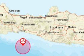 Lokasi gempa 5,0 SR, Senin (14/10/2019) pukul 18.33 WIB. (Antara-BMKG)