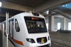 Ilustrasi autonomous rail transit (ART). (Antara-Laily Rahmawaty)