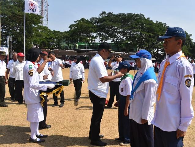 Seru, 3.000 Pelajar Ikut Jumbara PMR di Lapangan Tuban Karanganyar