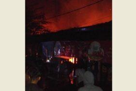 Kebakaran Hanguskan 6 Kios di Pasar Legi Magetan