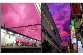 Tampak Indah, Langit Pink di Jepang Ternyata Pertanda Bencana