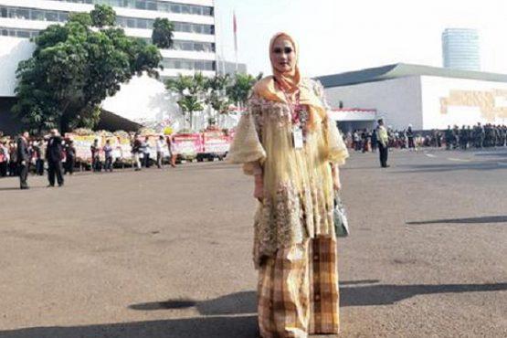 Penampilan Mulan Jameela di Pelantikan DPR RI 2019. (Liputan 6)