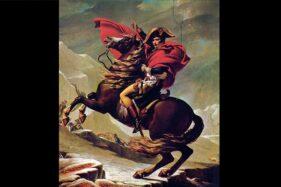 Lukisan terkenal karya Jacques-Louis David bertajuk Napoleon Melintasi Alpen. (Wikimedia.org)