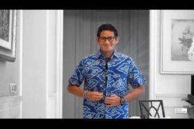 Video Sandiaga Uno buka kemeja dan memperlihatkan kaus