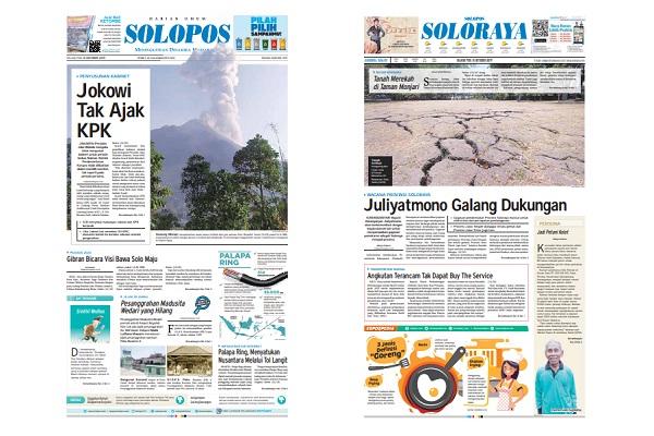 Solopos Hari Ini: Jokowi Tak Ajak KPK Susun Kabinet