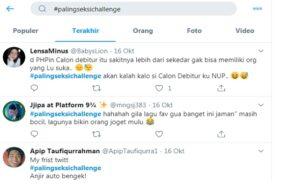 Kicauan dengan tagar #palingseksichallenge. (Twitter)