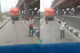 Video viral pungli truk. (Istimewa)