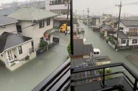 Banjir akibat Badai topan Hagibis. (Yuttana Wangmun)