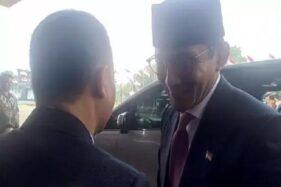 Sandiaga Uno tiba di Gedung DPR/MPR, Senayan, Jakarta Pusat, DKI Jakarta, Minggu (20/10/2019). (Okezone.com)
