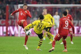 Pertandingan pekan ke-11 Bundesliga 2019-2020 antara Bayern Munchen dan Borussia Dortmund di Allianz Arena, Munchen, Jerman, Minggu (10/11/2019) dini hari WIB. (Reuters-Andreas Gebert)
