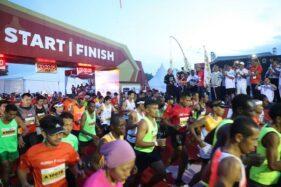 Ilustrasi start Borobudur Marathon. (Kemenpora.go.id-Raiky)