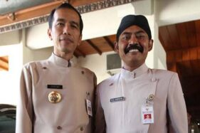 Foto lawas Jokowi-Rudy. (Solopos/Dok)
