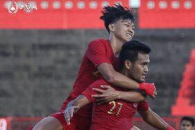 Pemain Timnas Indonesia U-23 merayakan gol. (pssi.org)