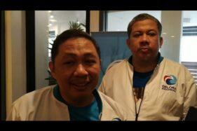 Ketua Umum Partai Gelora Anis Matta dan Wakil Ketua Umum Fahri Hamzah. (Suara.com/M Yasir)