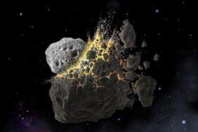 Ilustrasi asteroid berukuran besar. (Reuters)
