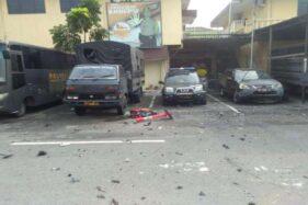 Lokasi bom bunuh diri di Polrestabes Medan. (Okezone)