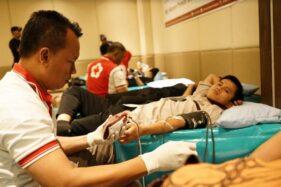 Kegiatan donor darah di Violan 10 Meeting Room Best Western Premier Solo Baru, Jl. Ir. Soekarno, Kecamatan Grogol, Kabupaten Sukoharjo, Jateng, Selasa (12/11/2019). (Istimewa)