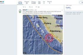 Gempa di Bengkulu (Twitter @BMKG)