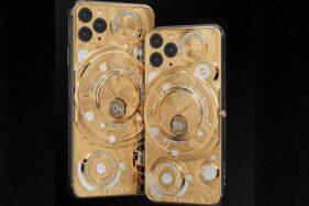 Iphone 11 Pro dan Iphone 11 Pro Max dengan lapisan 0,5 kg emas 18 karat. (Gsmarena.com)