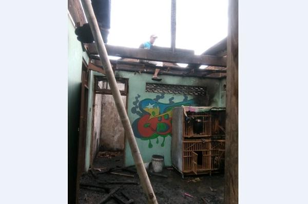 Kebakaran Hanguskan Rumah Warga Gondangrejo Karanganyar, Kerugian Rp50 Juta