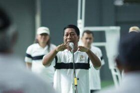 Wali Kota Magelang Sigit Widyonindito meresmikan Lapangan Tenis Moncer Serius, Sabtu (9/11/2019). (Antara-Humas Pemkot Magelang)
