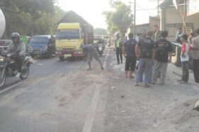 Terpeleset Lalu Jatuh, Pengendara Motor Terlindas Truk hingga Meninggal di Boyolali