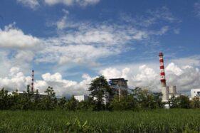 Kompleks pabrik PT Rayon Utama Makmur (RUM) di Desa Plesan, Kecamatan Nguter, Kabupaten Sukoharjo,  Jumat (23/2/2018). (Bisnis-Dok)