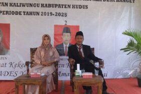 Pasangan suami istri menjadi kontestan Pilkades Banget, Kecamatan Kaliwungu, Kabupaten Kudus, Jawa Tengah, Selasa (19/11/2019). (Antara-Istimewa)