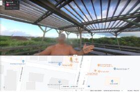 Pria telanjang yang sempat ada di Google Maps Banda Aceh. (Detik.com)