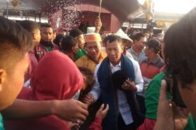 Sertu Suharto, calon kepala desa terpilih dari Desa Temulus, Kecamatan Mejobo, Kabupaten Kudus, Jawa Tengah. (Antara)
