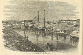 Lukisan Terusan Suez pada 1869. (Wikimedia.org)
