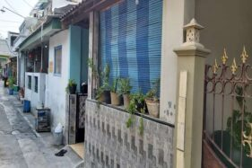 Rumah Muhammad Irfan di Dusun Waringin Rejo, Desa Cemani, Kecamatan Grogol, Sukoharjo, yang pada Senin (18/11/2019) sore digeledah Densus 88. (Solopos-Indah Septiyaning W.)