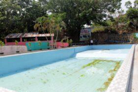 Kolam renang Umbul Ngepok siap dioperasikan setelah finishing selesai di Dukuh Parit RT 016, Desa Karangpelem, Kedawung, Sragen, Selasa (19/11/2019). (Solopos/Tri Rahayu)