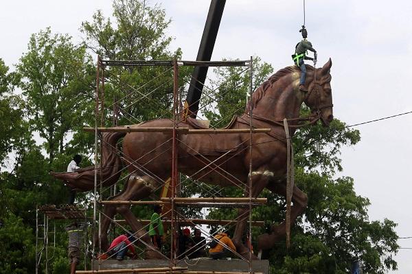 Patung Bung Karno Berkuda Segera Mejeng di Jl. Ir. Sutami Solo
