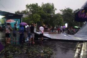 Angin Kencang Robohkan 1 Rumah dan 1 Orang Terluka di Ngawi