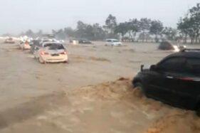 Tol Cipali Banjir, Lalu Lintas Arah Semarang Macet