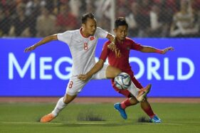 Indonesia vs Vietnam (Antara/Sigid Kurniawan)