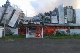 Pabrik Teh Kartowono Milik PTPN XII di Lumajang Hangus Terbakar