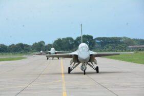 Pesawat Tempur F-16 dan T-50 Diterbangkan, Operasi Keamanan Udara Lanud Iswahjudi Berakhir