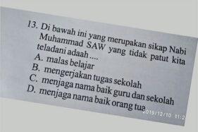 Viral Soal Ujian SD Dianggap Hina Nabi Muhammad, Cek Faktanya!