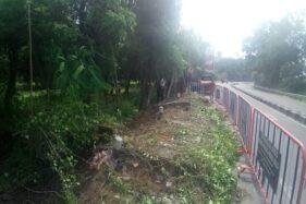 Tembok Taman Balekambang Solo Roboh, Pengelola Pasang Pagar Bambu