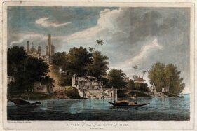 Lukisan karya  William Hodges yang menggambarkan Masjid Babri. (Wikimedia.org)