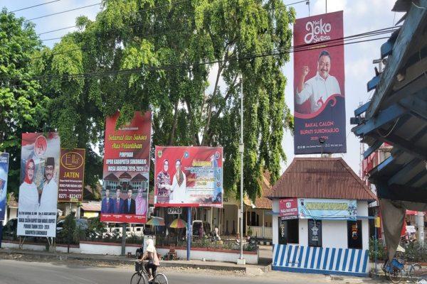 Pilkada Sukoharjo: Baliho Etik-Agus Dan Joko Paloma Bertebaran