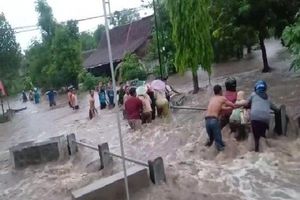 3 Desa di Madiun Terendam Banjir Akibat Luapan Sungai