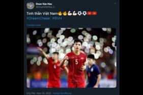 Akun Twitter pemain Vietnam Doan Van Hau.
