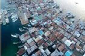 Dokumentasi dampak tsunami Flores, 12 Desember 1192. (Wikimedia.org)