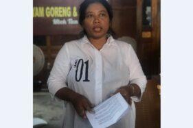 Juru bicara Koncone Gibran Ges, Imelda Yuniati, saat jumpa pers di restoran di daerah Manahan Solo, Sabtu (7/12/2019). (Solopos-Mariyana Ricky P.D.)